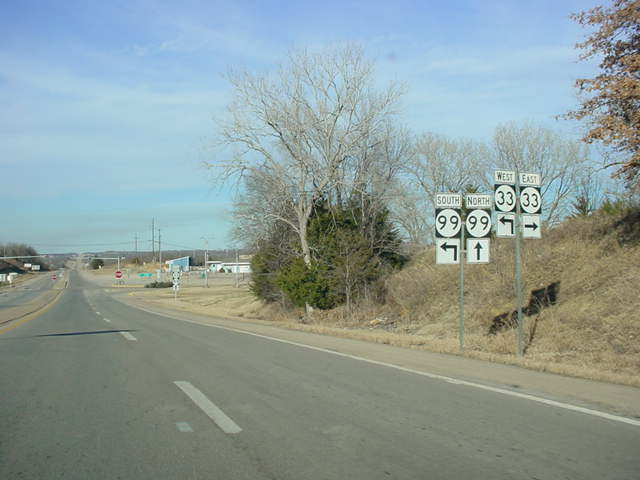 OK 16 West at OK 33/OK 99