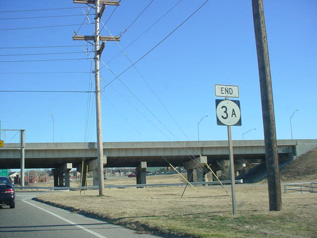 """END OK 3A"" sign at Interstate 44"