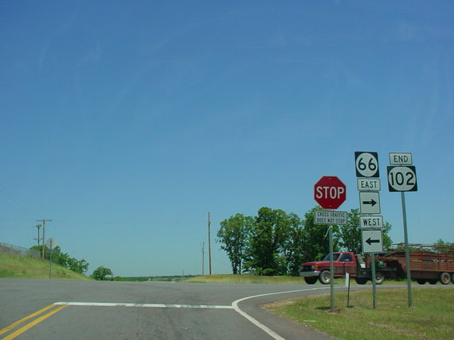 OK 102 North at OK 66