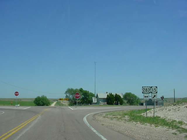 OK 15 East at U.S. 283