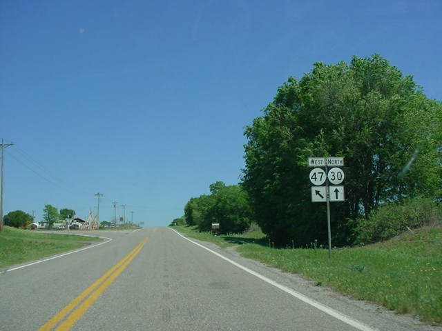OK 30 North/OK 47 West at OK 47 West