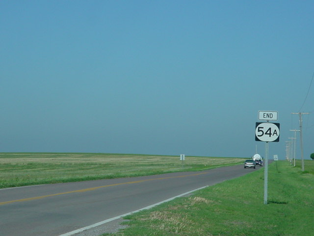 End OK 54A signage at its western terminus