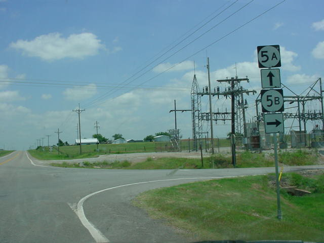OK 5A East at OK 5B