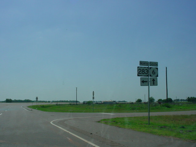 OK 6 South at U.S. 283