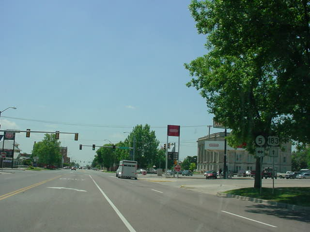 U.S. 183 South at OK 5