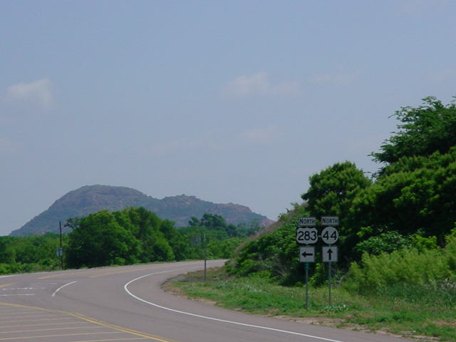 U.S. 283 North at OK 44 North