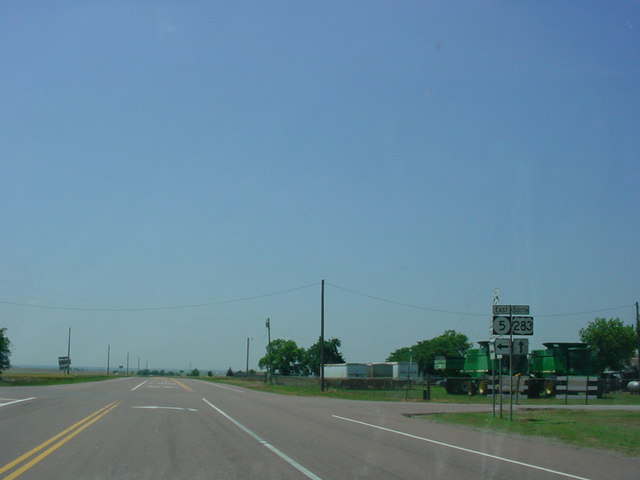 U.S. 283 South at OK 5 East