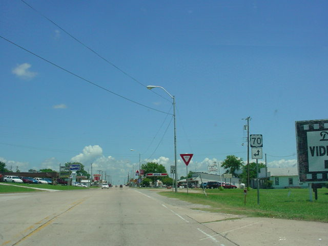 OK 32 East at U.S. 70