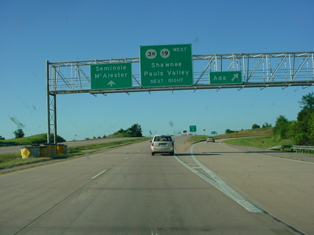 OK 1 East/OK 3 West at Ada