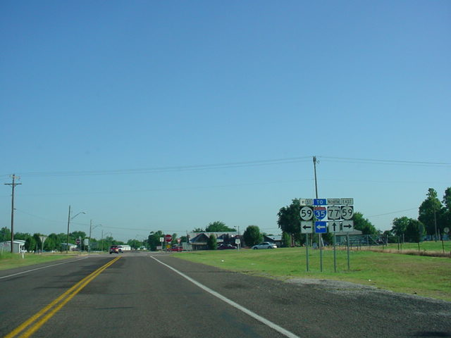 U.S. 77 North at OK 59