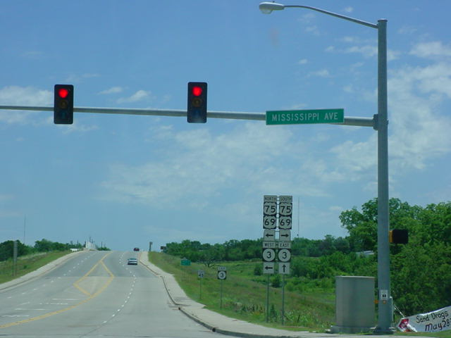 Bypass OK 3/OK 7 East at U.S. 69/U.S. 75/OK 3