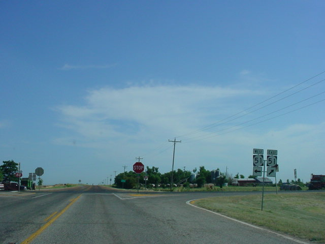 OK 74 North at OK 51