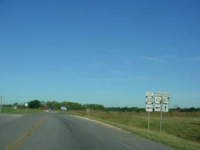 OK 20 East at AR 43