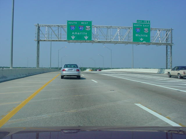 Interstate 40 West at Exit 153 - Interstate 35 North/U.S. 62 East