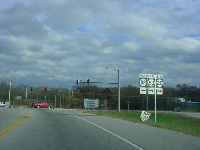 OK 28 East at OK 82