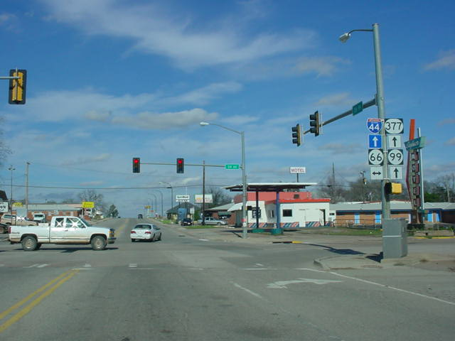 U.S. 377/OK 99 North at OK 66